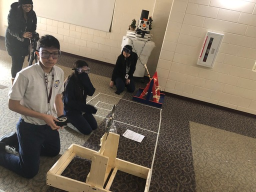 STEM Catapults at the Freshman Center