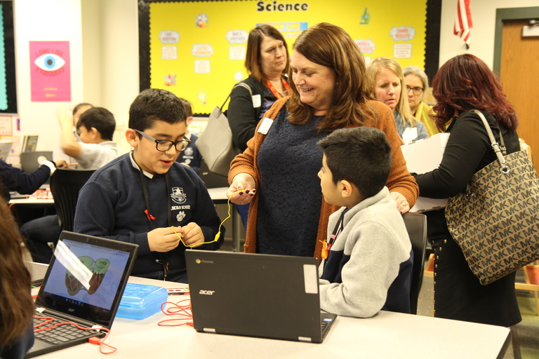 Proud presentations: District 99 showcases digital technology, encourages other schools to follow suit