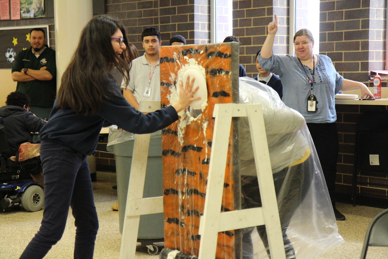 'Pi' to the face: Unity students, staff have fun with Pi Day