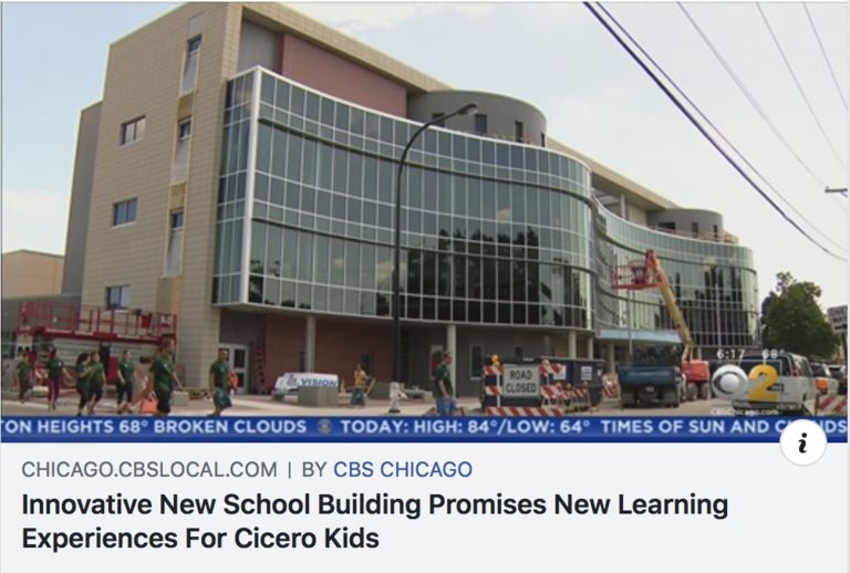 Sherlock construction, District goals featured on CBS2 Chicago