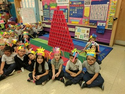 Sherlock Kindergarteners celebrate 100 days of school
