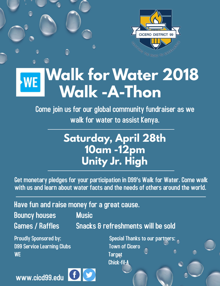 Walk For Water Walk-A-Thin April 28, 2018