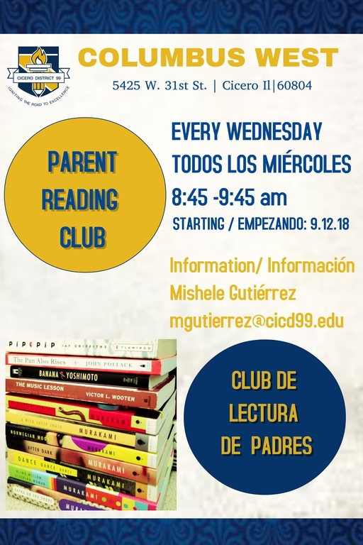 Parent Reading Club/Club de Lectura de Padres