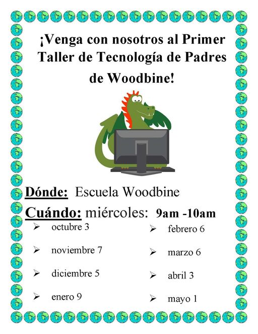 Parent Technology Workshop / Taller de tecnología para padres