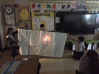 Utilizing light and sound to create a puppet show!