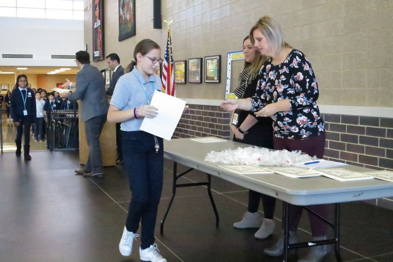 Making the grade: 250-plus junior-high students achieve straight A's