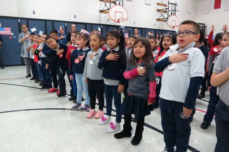Honoring and sharing: Liberty students salute veterans, hear stories from soldiers