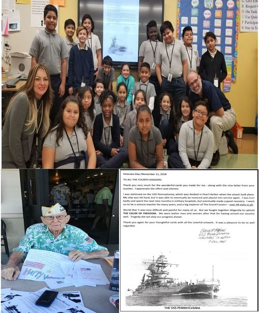 4th Graders Honor Pearl Harbor Veteran