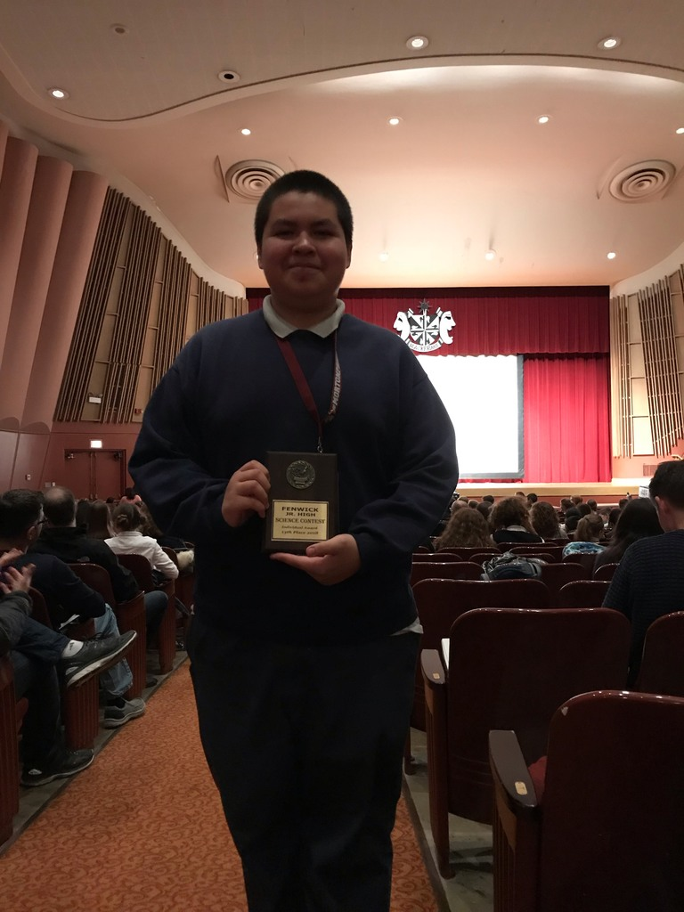 Unity student receives distinction at Fenwick science competition