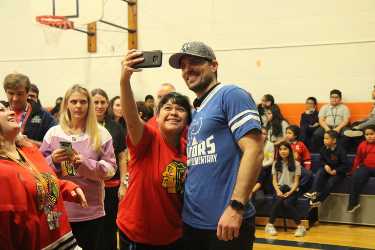A n'ICE' assembly: Goodwin scores visit from Stanley Cup winner and Olympian Patrick Sharp