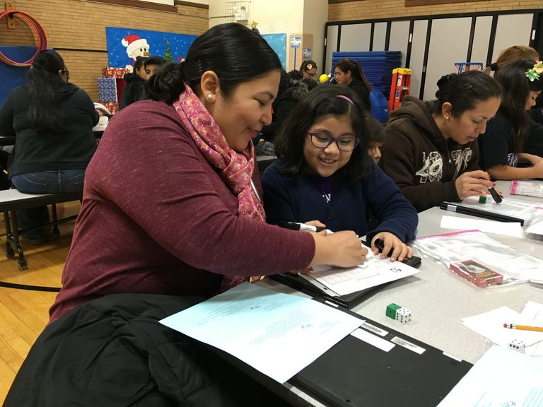 No monkeying around: McKinley students, parents work out afternoon math problems
