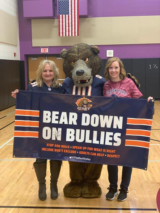 Staley da Bear Visits Warren Park School