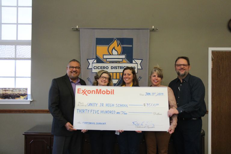 Helping fuel the road to excellence: ExxonMobil donates more than $3K for D99 STEAM initiatives